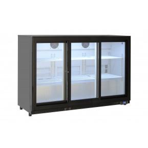 Réfrigérateur bar ECO 320 litres à portes coulissantes noir