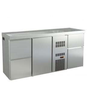 Biertheke Profi 1/2 mit zwei Spülbecken rechts   Kühltechnik/Biertheken