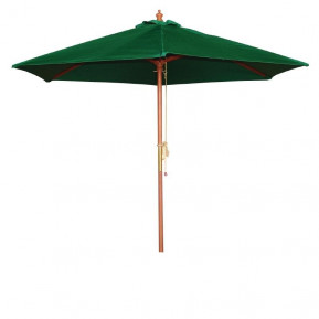 Parasol Bolero rond, vert, 3mètres