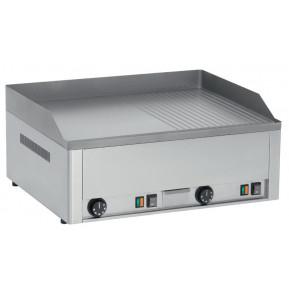 Elektro-Grillplatte PROFI 60 ½ glatt, ½ gerillt mit verchromter Platte