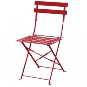2chaises en acier Bolero, rouges, pliantes
