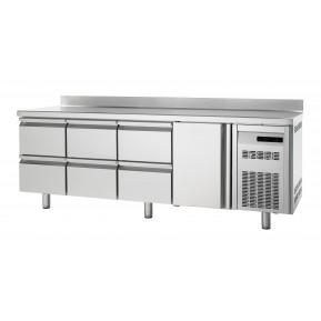 Tiefkühltisch Premium 1/6 mit Aufkantung