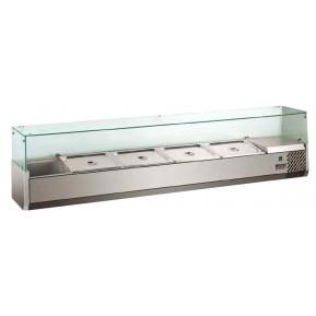 Présentoir réfrigéré ECO 5x GN 1/3 + 1x GN 1/2 avec vitre