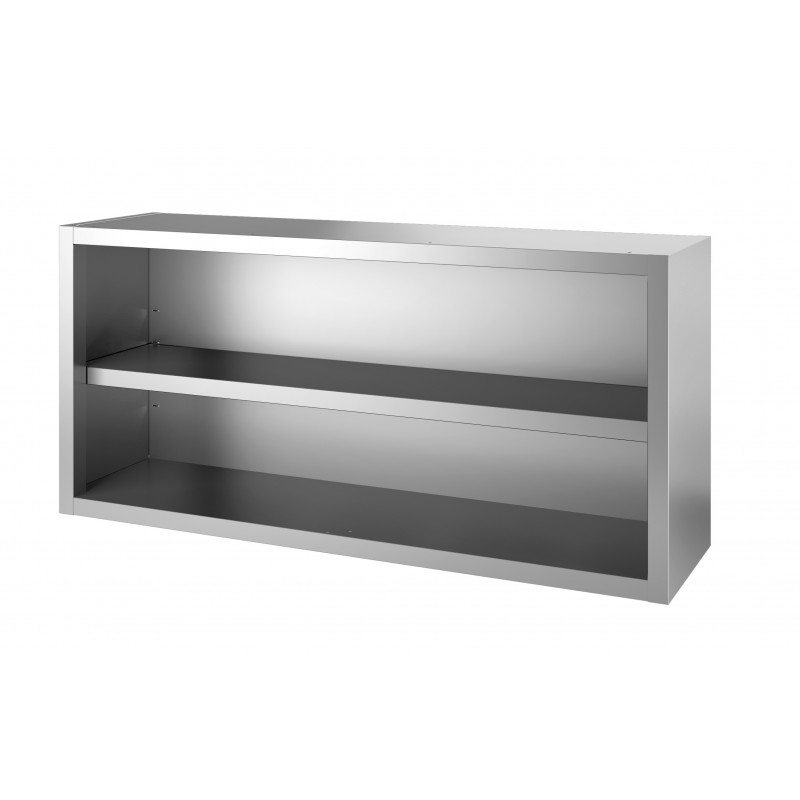 Etagere micro onde inox vick support mural pour micro for Support mural cuisine inox
