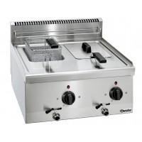 Elektro-Fritteuse 600 Imbiss mit 2x6 Literbecken