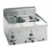 Bartscher Gas-Fritteuse 600 Imbiss 2 x 8L - Tischgerät   Kochtechnik/Fritteusen/Gas-Fritteusen
