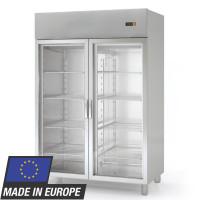 Armoire réfrigérée Profi 1400 GN 2/1 - avec 2 portes vitrées