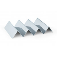 Présentoir à sandwichs en acier chromé-nickel avec 3 étagères, dimensions 25 cm x 17 cm x 4,5 cm