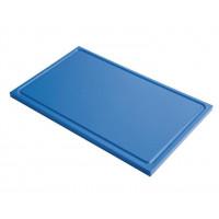 Planche à découper avec rainure de jus Gastro-M GN 1/2 bleu