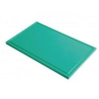 Planche à découper avec rainure de jus Gastro-M GN 1/2 vert