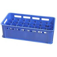 Etui à verres 32 compartiments, bleu, pour verres de 0,3 - 0,4 L