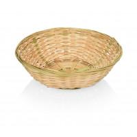 Corbeille à pain en bambou, ronde 20x6 cm