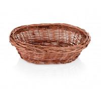 Corbeille à pain ovale en osier, dimensions 23 cm x 17 cm