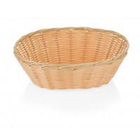 Corbeille à pain imitation rotin ovale 23x17,5x8cm