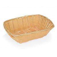 Corbeille à pain imitation rotin rectangulaire 24x18x8cm