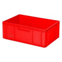 Euro-Stapelbehälter 600x400 mm, 2 Griffleisten, rot -  220 mm   Lager & Transport/Lagerausstattung/Lager- & Transportbehälter