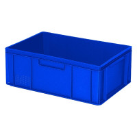 Euro-Stapelbehälter 600x400 mm, 2 Griffleisten, blau -  220 mm   Lager & Transport/Lagerausstattung/Lager- & Transportbehälter