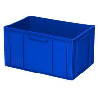 Euro-Stapelbehälter 600x400 mm, 2 Griffleisten, blau -  320 mm   Lager & Transport/Lagerausstattung/Lager- & Transportbehälter