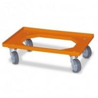 Plateau roulant orange