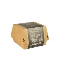 Boîtes à hamburger Papstar Pure – «Good Food»; grand format; carton – 50pièces