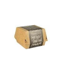 Boîtes à hamburger Papstar Pure – «Good Food»; petit format; carton – 50pièces