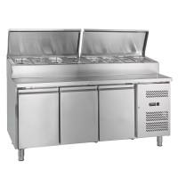 Table réfrigérée ECO 3000 avec station de garniture 8 x GN 1/3