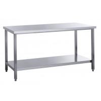 Table de travail Basic 8x6 en inox avec étagère inférieure