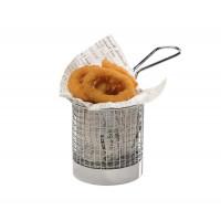 Panier de service pour friture APS Ø 8 cm, H : 7,5 cm, poignée 9,5 cm