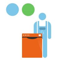 Forfait d'installation pour lave-vaisselle encastrable Ecoline 50 SLE 220 V