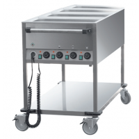 Chariot bain-marie 4 cuves GN 1/1