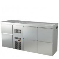 Biertheke Profi 0/4 mit zwei Spülbecken links | Kühltechnik/Biertheken