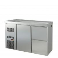 Biertheke Profi 1/2 mit Spülbecken links | Kühltechnik/Biertheken