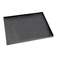 Plaque à pizza rectangulaire en tôle bleue LxlxH 50x50x3cm