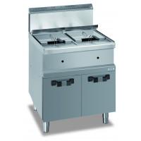 Friteuse sur coffre à gaz Dexion série 77 - 70/70 14+14 litres
