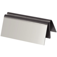 Support de menu rectangulaire Olympia en inox