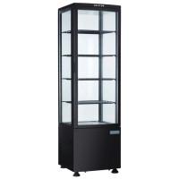 Vitrine réfrigérée POLAR 235L noire – avec porte vitrée incurvée