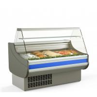 Fischkühltheke Profi 13x9 - gerades Frontglas