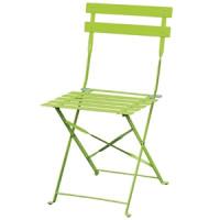 2chaises en acier Bolero, vert clair, pliantes