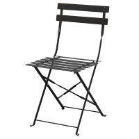 Stahlstühle Bolero schwarz klappbar (2 Stk.)