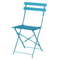 2chaises en acier Bolero, bleu ciel, pliantes