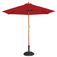 Parasol Bolero rond, rouge, 2,5 mètres