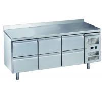 Table réfrigérée ECO0/6 avec dosseret - GN 1/1