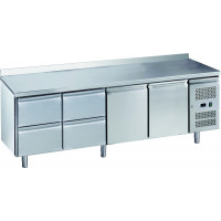 Table réfrigérée ECO2/4 avec dosseret - GN 1/1