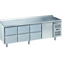 Table réfrigérée ECO1/6 avec dosseret - GN 1/1