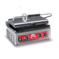 GMG Elektro-Kontaktgrill 45x27 gerillt mit 2 Temperaturreglern | Kochtechnik/Grills/Kontaktgrills