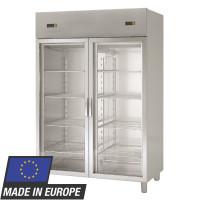 Armoire réfrigérée Profi 1400 GN 2/1 - avec 2 groupes frigorifiques et 2 portes vitrées