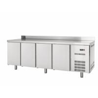 Kühltisch Profi 4/0 mit Aufkantung - GN 1/1