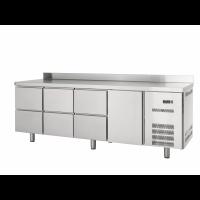 Table réfrigérée Profi 600 1/6 avec dosseret