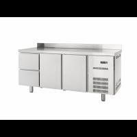 Table réfrigérée Profi 600 2/2 avec dosseret