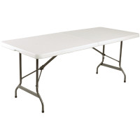 Table pliable au centre Bolero blanche 1829mm